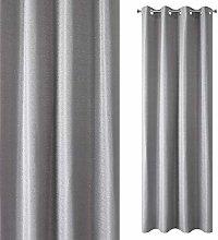 Eurofirany Curtain, Polyester, Steel Grey, 140x250