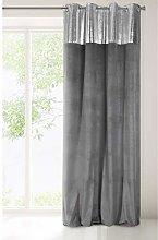 Eurofirany Curtain, Velvet, Steel Grey, 140x250 cm