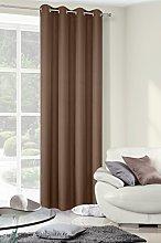 Eurofirany Modern Rita Eyelet Ring Top Curtain,