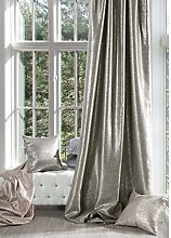 Eurofirany Opaque Curtain Beige with Silver Print