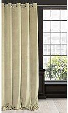 Eurofirany Soft Velvet Curtain Plain with 10 Metal
