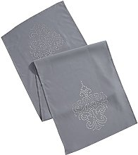 Eurofirany Tablecloth, Polyester, Grey, 40 x 140 x