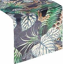 Eurofirany tablecloth table runner velvet leaf