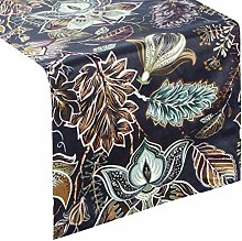 Eurofirany tablecloth, velvet floral pattern,