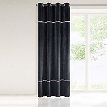 Eurofirany Velvet Curtain Black with Crystal
