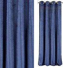 Eurofirany Velvet Curtain Dark Blue with