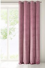 Eurofirany Velvet Curtain Dark Pink Heather Colour