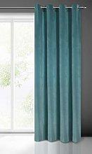 Eurofirany Velvet Curtain Turquoise Dark Cyan