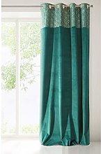 Eurofirany Velvet Curtain Turquoise Green Jade +