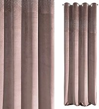 Eurofirany Velvet Curtain with Crystals and Metal