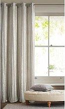 Eurofirany Velvet Curtain with Light Beige Stripes