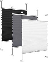 Eurohome Pleated Window Blind, Grey, 70 x 130 cm,