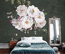 European 3D Flower Simple Mural Female Bedroom