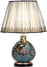 European Antique Enamel Color Table Lamp Creative