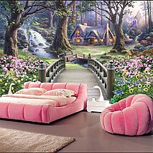 European Fantasy Landscape Wallpaper Living Room