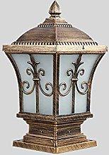 European Outdoor Glass Lantern Table Light Column