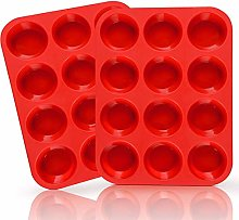 European Silicone Muffin Pan Set, 2-Pack, 12-Cup,
