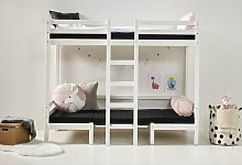 European Single Bunk Bed with Desk Hoppekids