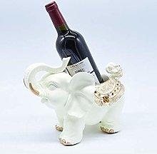European-Style Elephant Wine Rack Resin Living