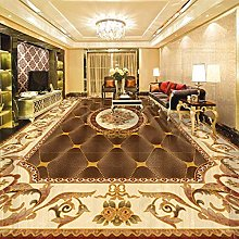 European Style Floor Wallpaper 3D Marble Pattern