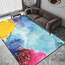 European Style Ink Bedroom Mosaic Carpet Abstract