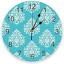 European Style PVC Wall Clock, Silent Non-Ticking
