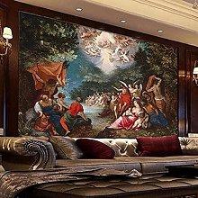 European Style Retro Oil Painting Mural Wallpaper