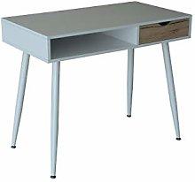 EUROSILLA College Table, Metal, White, 90x 50x