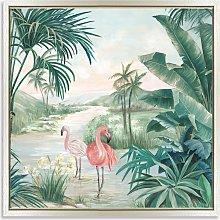 Eva Watts - 'Flamingo Dream' Framed Canvas