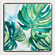 Eva Watts - Fern Leaves Framed Canvas Print, 29 x