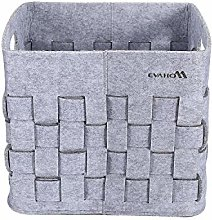 EVAHO Gray Woven Felt Storage Box Hand-knitted