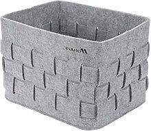 EVAHO Gray Woven Felt Storage Box, Hand-knitted