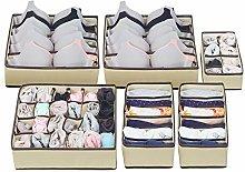 Evance Underwear Drawer Organiser Set of 6,