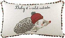 Evans Lichfield Tassell Trim Hedgehog Cushion,