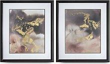 Evening Shimmer - Framed Print & Mount, Set of 2,