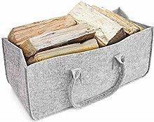 Evenlyao Firewood Carrier Felt Log Bag Large