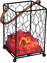 Evenlyao LED Flame Light Lamp Fake Carbon Fire