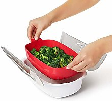 Evenlyao Microwave Steamer, Steamer Basket With