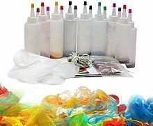 Evenlyao Tie-dye Kit,8 Colors/18 Colors DIY Tie