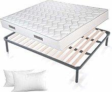 EVERGREENWEB ✅ KIT Slatted Bed Base and Mattress