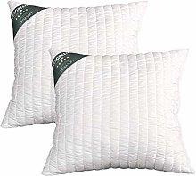 Evergreenweb Pair of Pillows 40 x 40 cm High 15 cm
