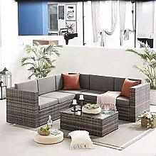 EVRE Rattan Outdoor Monaco Garden Furniture Sofa