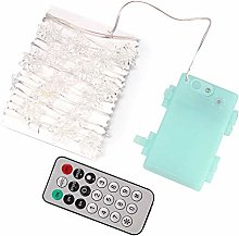EVTSCAN 30LEDs Snowflake Fairy Lights with Remote
