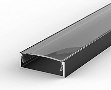 EW2 Black Painted 1m LED Aluminium U-Profile with