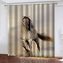 EWRMHG Blackout Curtains Animal horse running