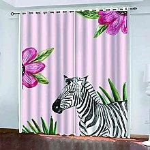 EWRMHG Blackout Curtains Animal zebra 87x79 inch