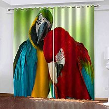 EWRMHG Blackout Curtains Red animal parrot 87x79