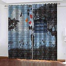 EWRMHG Blackout Curtains Romantic couple doodle
