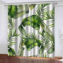 EWRMHG Blackout Curtains Tropical green leaves