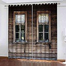EWRMHG Blackout Curtains Vintage wooden house